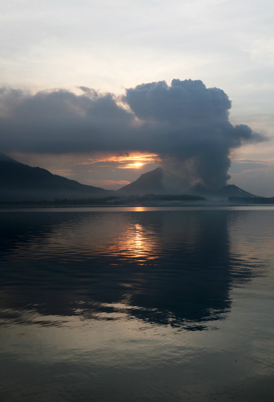 Mt Tuvuvur, Rabaul, East New Britain, PNG buried half of the regional capital in ash when it erupted in 1994. ShelterBox responded when it erupted again in 2006.
