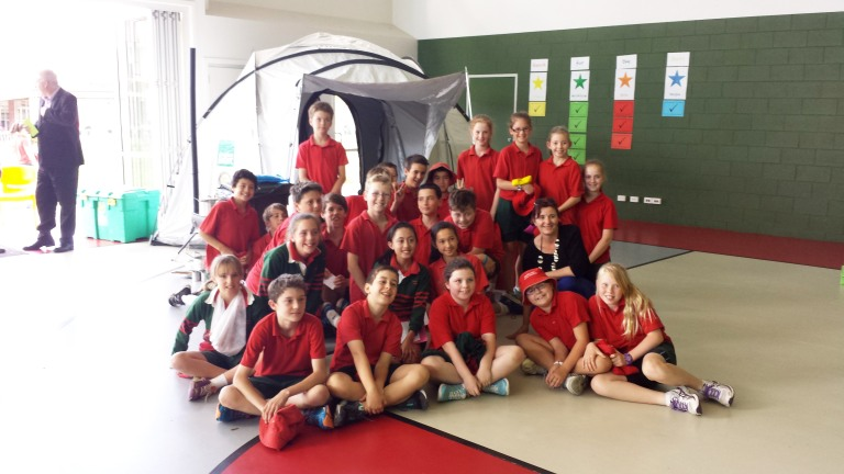 5th graders at Scared Heart Primary held a Jelly-a-thon and a walk-a thon to raise funds for ShelterBox
