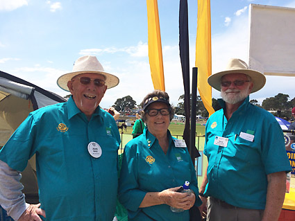 John Hale, June Wade and David Brockway are part of a hard working ShelterBox team in WA