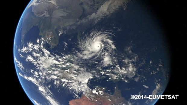 Satellite image of Typhoon Hagupit ©EUMETSAT 2014