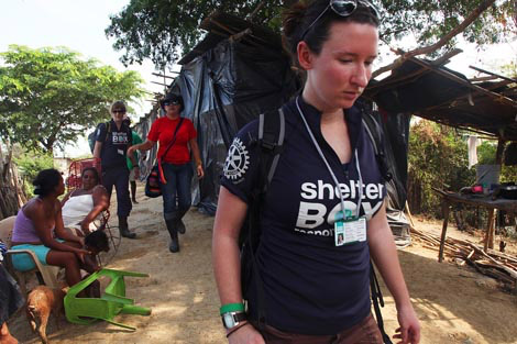 Response team volunteer Laura Jepson, who spent Christmas 2010 in Colombia