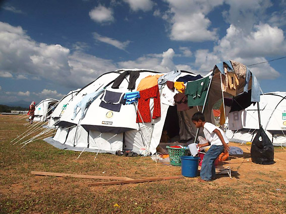 ShelterBox tents soon become homes for those families affected by the floods