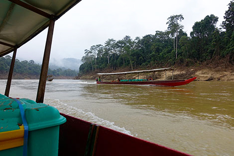 ransporting ShelterBoxes by boat to remote communities in Pahang, Malaysia