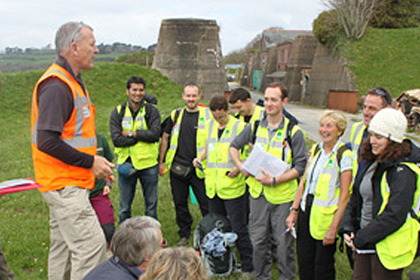 Mark leads prospective ShelterBox response volunteers during their training course