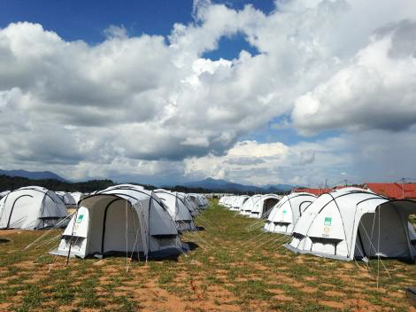 Image of ShelterBox camp in Malaysia