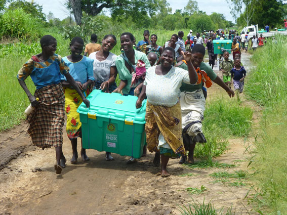 Happy beneficiaries in Malawi
