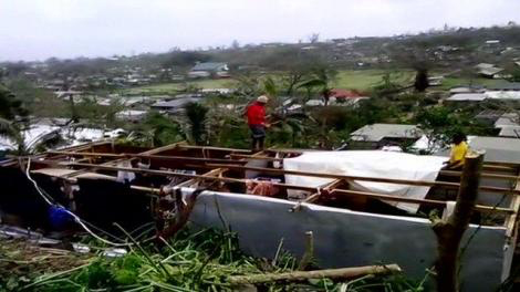 Image of cyclone damage in vanuatu