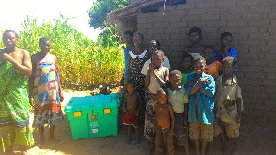 Families receive ShelterBox aid, outside of Zomba