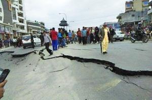 Devastation in Kathmandu, Nepal's capital captured by Rotaractor Ashish Chaulagain