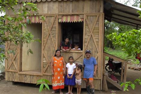 Recipients of a shelter from our project with Handicap International (Toby Ash/ShelterBox)