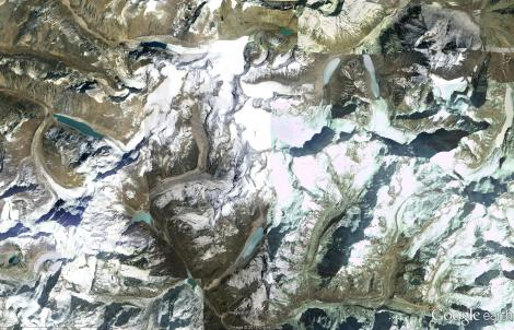 Aerial images of glacial lakes in Nepal