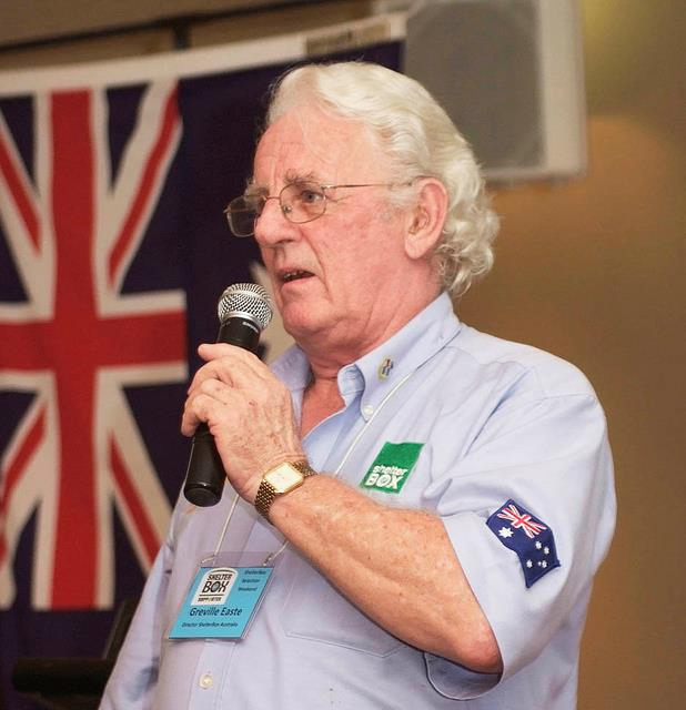 Greville Easte, Ex-Director and ShelterBox Ambassador for Queensland