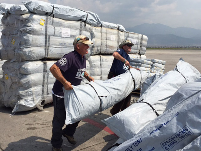 Tents And Shelter Kits Arrive, To Begin Their Ascent To The Mountains Of Nepal (2/2)