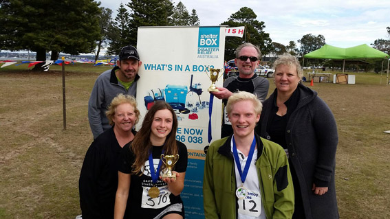 The 'Run For Shelter' team ran a total of 167.6kms for ShelterBox ........ not counting the training!