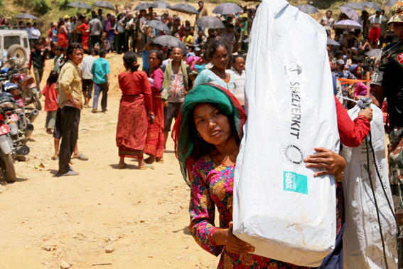 ShelterBox ShelterKits being distributed in Nepal