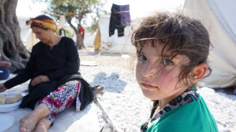 Young Syrian refugee on the Greek island of Lesbos