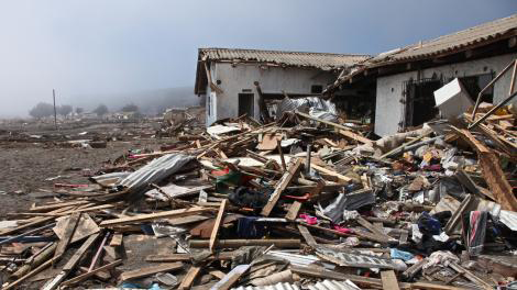 damage on the coastline of Iloca following the 8.8 magnitude earthquake in Chile in 2010, to which ShelterBox deployed.