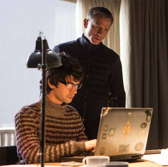 James bond with M, from the upcoming film SPECTRE