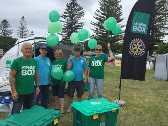 Shelterbox volunteers at the Mardi Gras