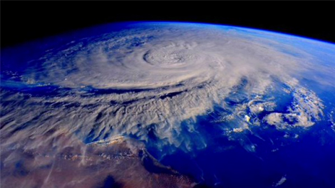satellite image of cyclone over Yemen