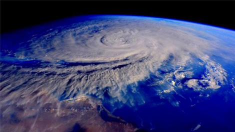 satellite image of cyclone over Yemen