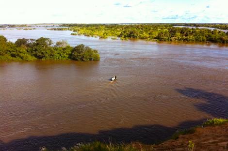 Thye flooded Parana River