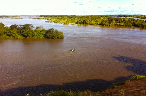 Thye flooded Parana River