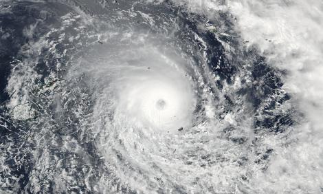 Satellite image of Cyclone Winston