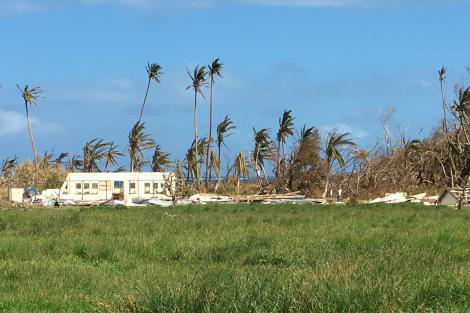 Cyclone devastation in Fiji