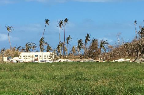 Cyclone devastation in Fiji