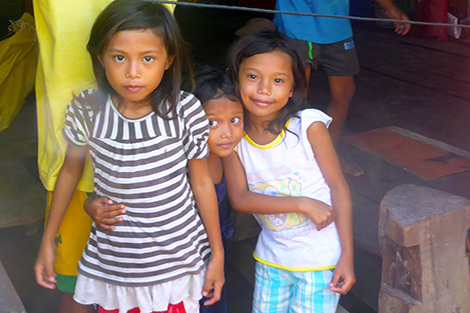 images of smiling Filipino children