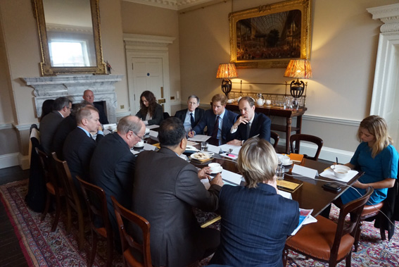round table meeting with HRH Prince Harry and his aides