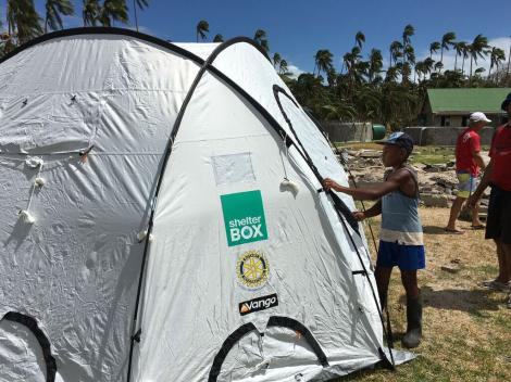 ShelterBox relief tent in Fiji