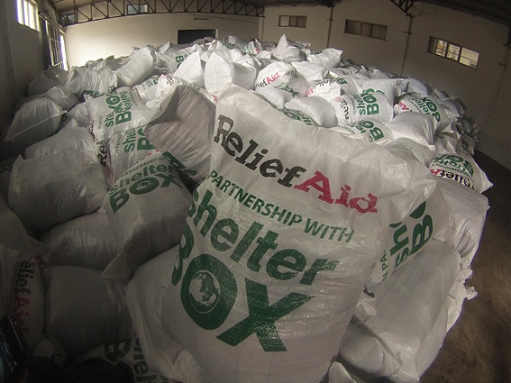 Aleppo Relief Aid warehouse
