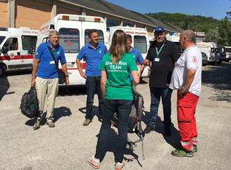 ShelterBox team in Italy