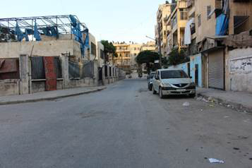 The Al Zubdia neighbourhood of southern Aleppo, near the ReliefAid offices where Karam died