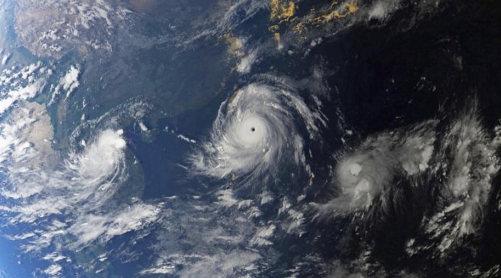 satellite image of Typhoon Meranti