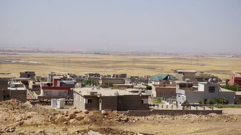 Seje-view over buildings-and desert ©ShelterBox/ACTED