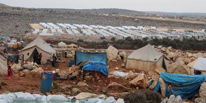 image of displacement camp in Syria